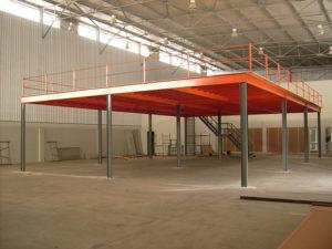 Steel Structural Mezzanine Floor Construction in Sharjah, UAE